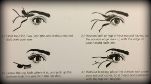 How to apply and remove One Two magnetic lashes
