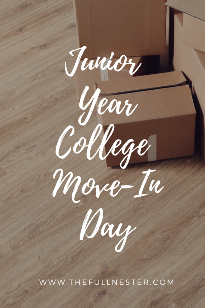 Junior Year College Move-In Day