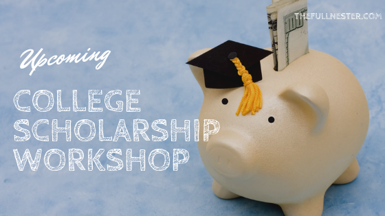 Upcoming College Scholarship Workshop