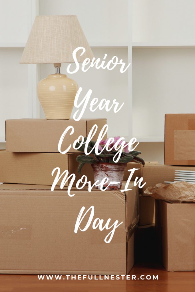 Senior Year College Move-In Day