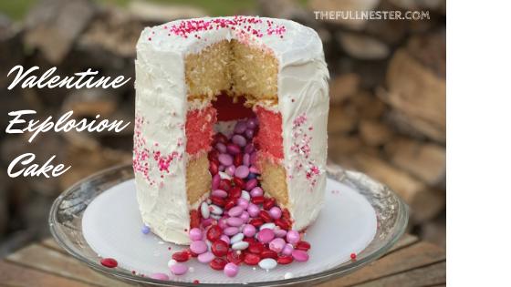 Valentine Explosion Cake