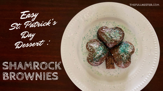 Easy St. Patrick's Day Dessert–Shamrock Brownies