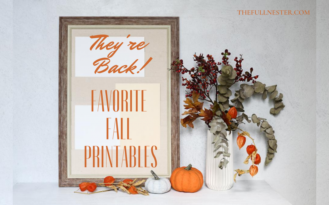 Fall Printables Are Back!