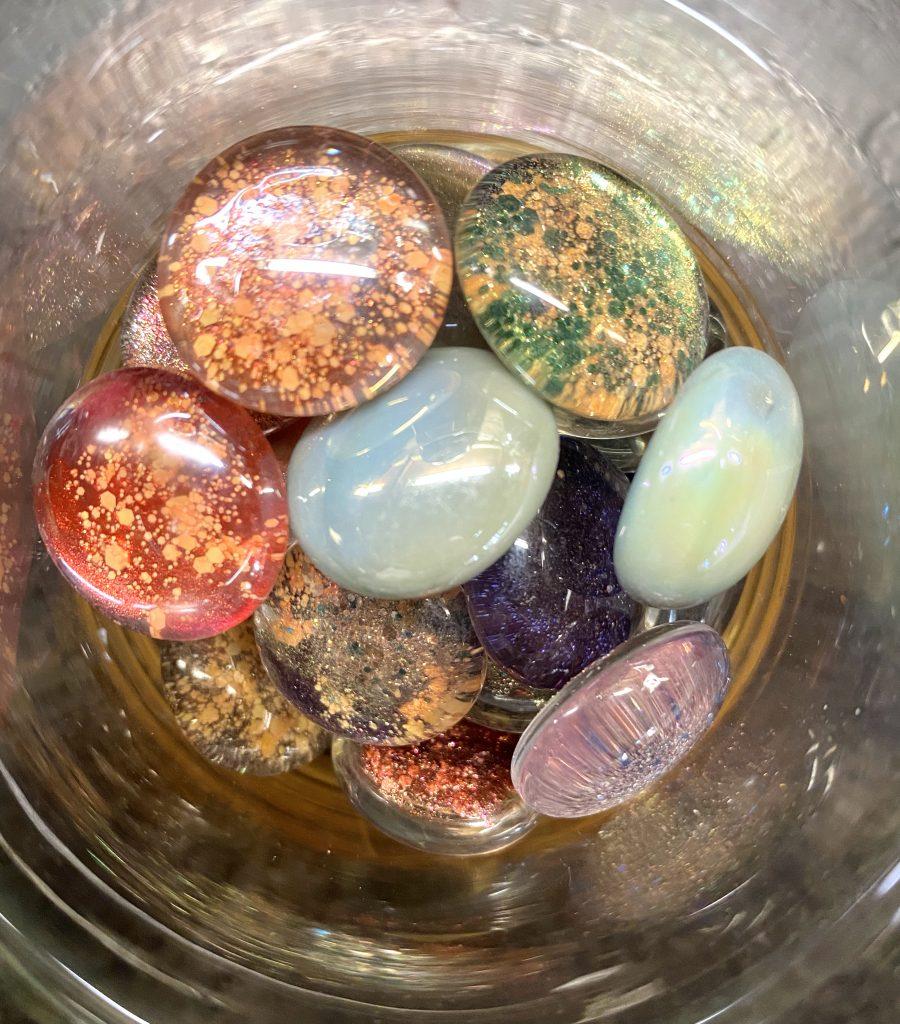 nail polish gems