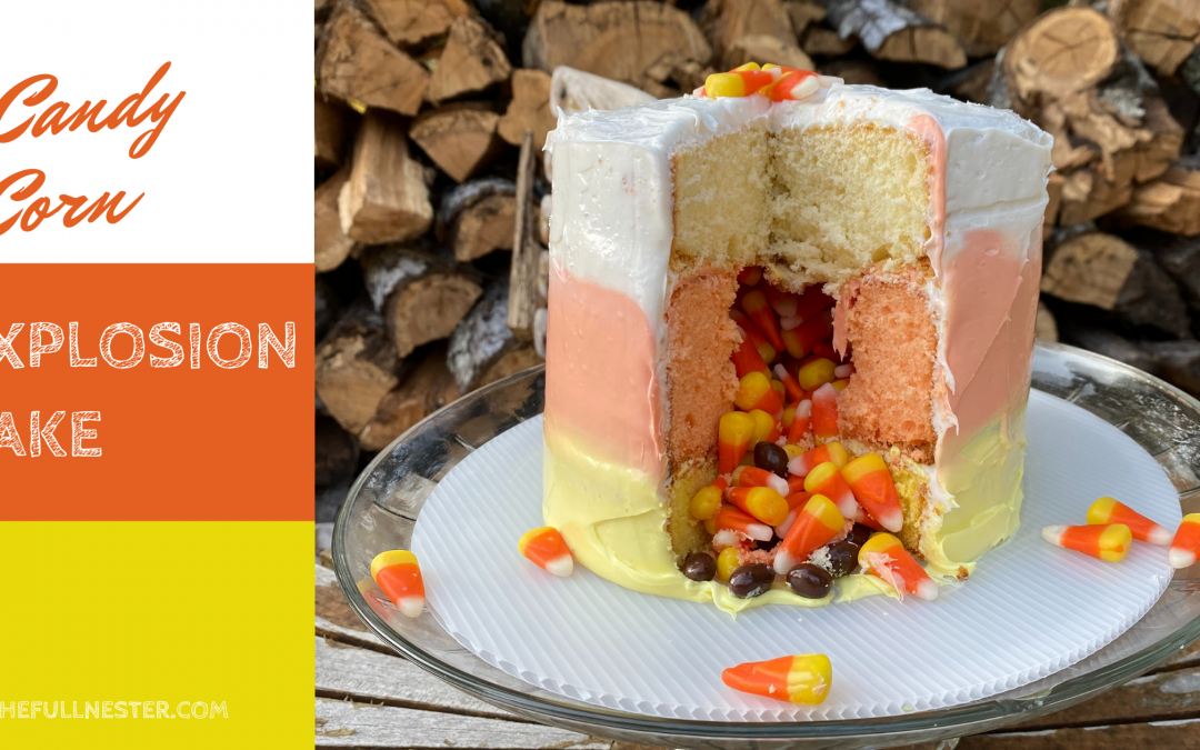 Candy Corn Explosion Cake