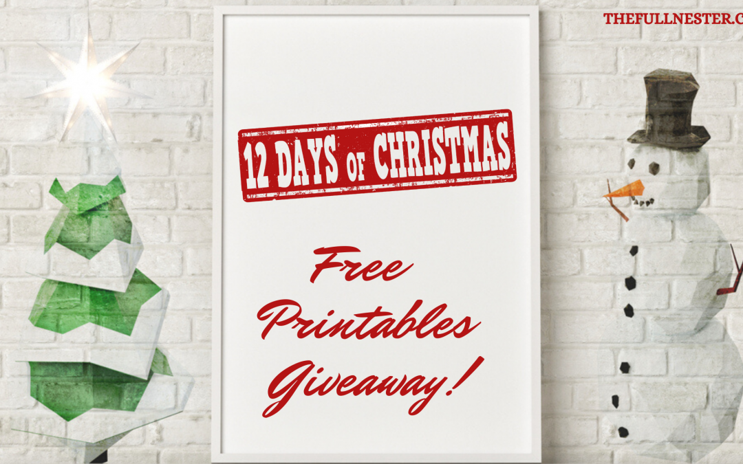 The Twelve Days of Free Christmas Printables!