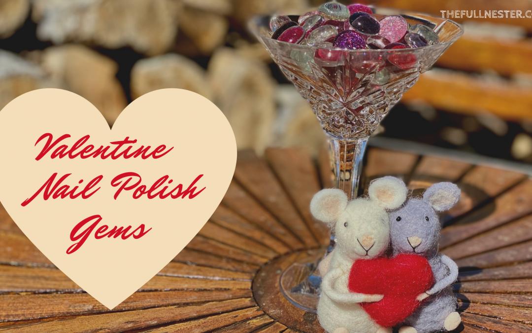 Valentine Nail Polish Gems