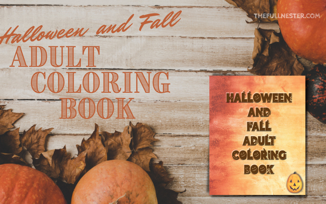 Halloween and Fall Adult Coloring Book